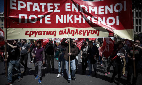 Rallies for May 1 underway in Athens