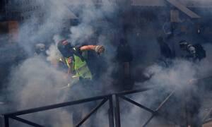 Επεισόδια στην πορεία των «Κίτρινων Γιλέκων» για την Εργατική Πρωτομαγιά (pics)
