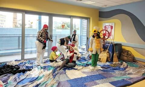 Η θεατρική ομάδα των εργαζομένων της DEMO στην Ογκολογική Μονάδα Παίδων