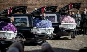 Σπαραγμός στην κηδεία των τριών παιδιών του ιδιοκτήτη του Asos