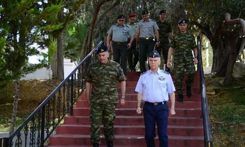 O Αρχηγός ΓΕΕΘΑ Χρήστος Χριστοδούλου στην Ελληνική Δύναμη Κύπρου