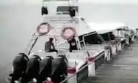 Βίντεο σοκ: Ισχυρή έκρηξη σε ταχύπλοο - Ένας νεκρός