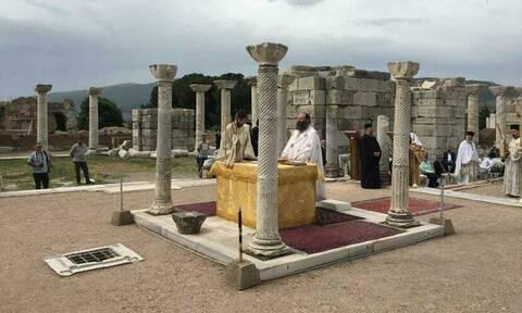 Η βασιλική του Αγίου Ιωάννη του Θεολόγου στην Έφεσο, όπου βρίσκεται και ο τάφος του
