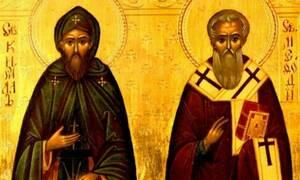 11 Μαΐου- Γιορτή σήμερα: Των Αγίων Κυρίλλου και Μεθοδίου Φωτιστών των Σλάβων