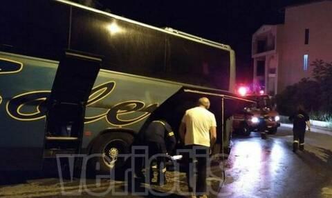 Πανικός στη Βέροια: Λεωφορείο εν κινήσει τυλίχθηκε στις φλόγες
