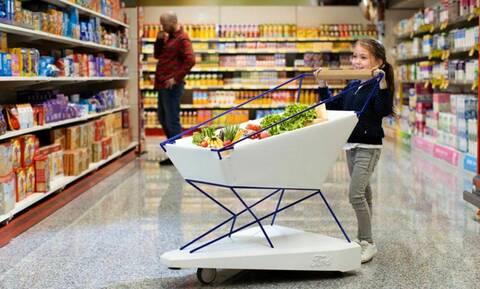 Η Ford έφτιαξε ένα καρότσι σούπερ μάρκετ που φρενάρει μόνο του!