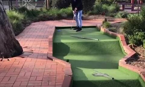 Αυτοί είναι οι χειρότεροι παίκτες στο mini golf (vid)