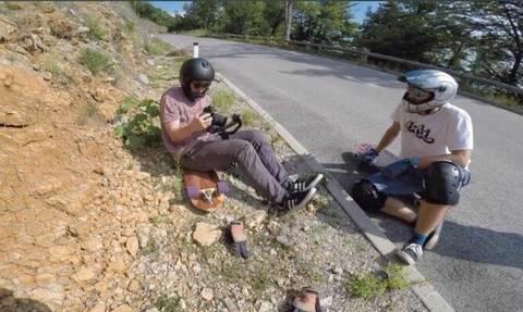 Κάνουν σκέιτμπορντ και καταγράφουν στην κάμερα τις σοκαριστικές πτώσεις τους (video)