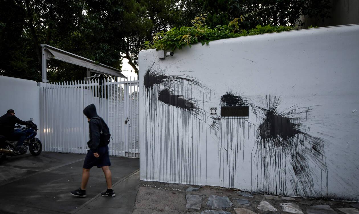 Καταδρομική επίθεση του Ρουβίκωνα στο σπίτι του Αμερικανού πρέσβη, Τζέφρι Πάιατ (pics)