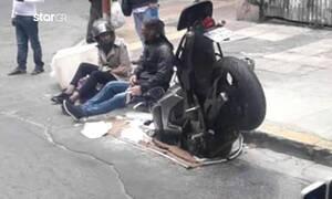 Αθήνα: Φρεάτιο χωρίς σχάρα «κατάπιε» μηχανή (video)