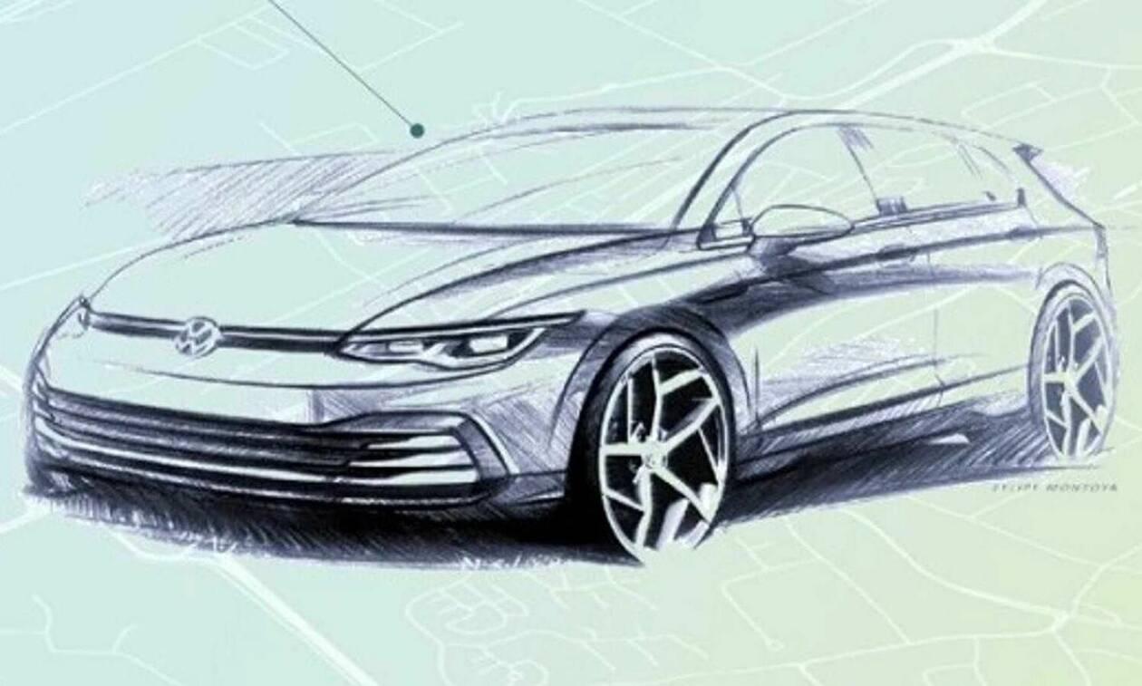Νέο VW Golf: Δείτε επίσημο σκίτσο και την πρώτη εικόνα από το εντυπωσιακό ταμπλό του