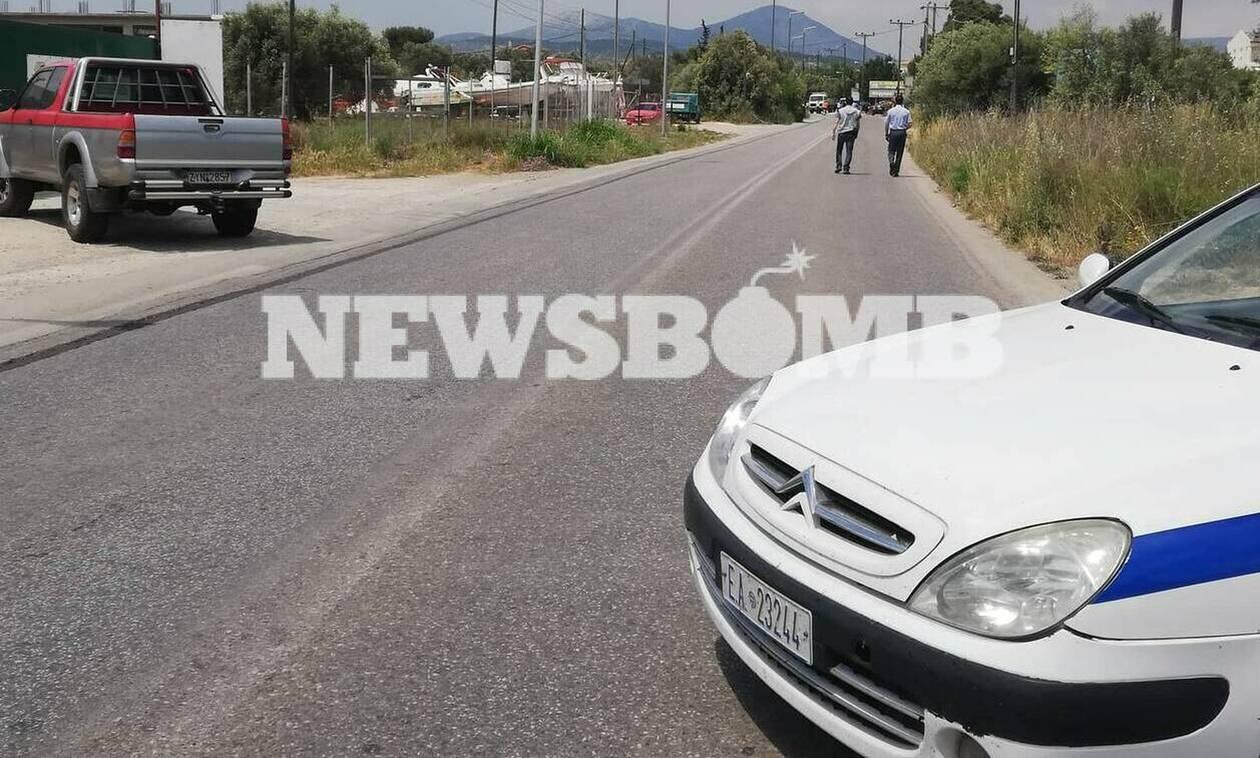 Τροχαίο στο Μαρκόπουλο: Φόβοι για έκρηξη από τη διαρροή καυσίμων (pics)