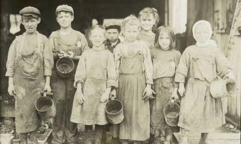 Παιδική εργασία: Φωτογραφίες που δείχνουν την σκληρή ζωή των παιδιών του 1900