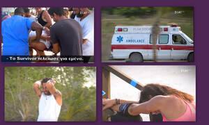 Survivor: Σοκ με τον τραυματισμό παίκτη, ο οποίος μεταφέρθηκε εσπευσμένα στο νοσοκομείο (photos-video)