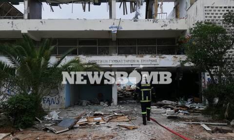 Νέα Σμύρνη: Φωτιά στο κλειστό γήπεδο του Πανιωνίου (pics&vid)