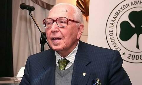Ο Αχιλλέας Μακρόπουλος, επίτιμος πρόεδρος του Παναθηναϊκού Α.Ο. για την υποψηφιότητα του γιου του