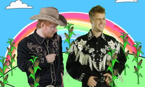 Το ανατρεπτικό βίντεο κλιπ του Justin Bieber με τον Ed Sheeran είναι ό,τι χρειάζεσαι σήμερα