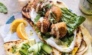 Φαλάφελ με ταχίνι και ginger