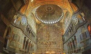 Η Αγιά Σοφιά στην Κωνσταντινούπολη πανηγύριζε την ημέρα της Μεσοπεντηκοστής