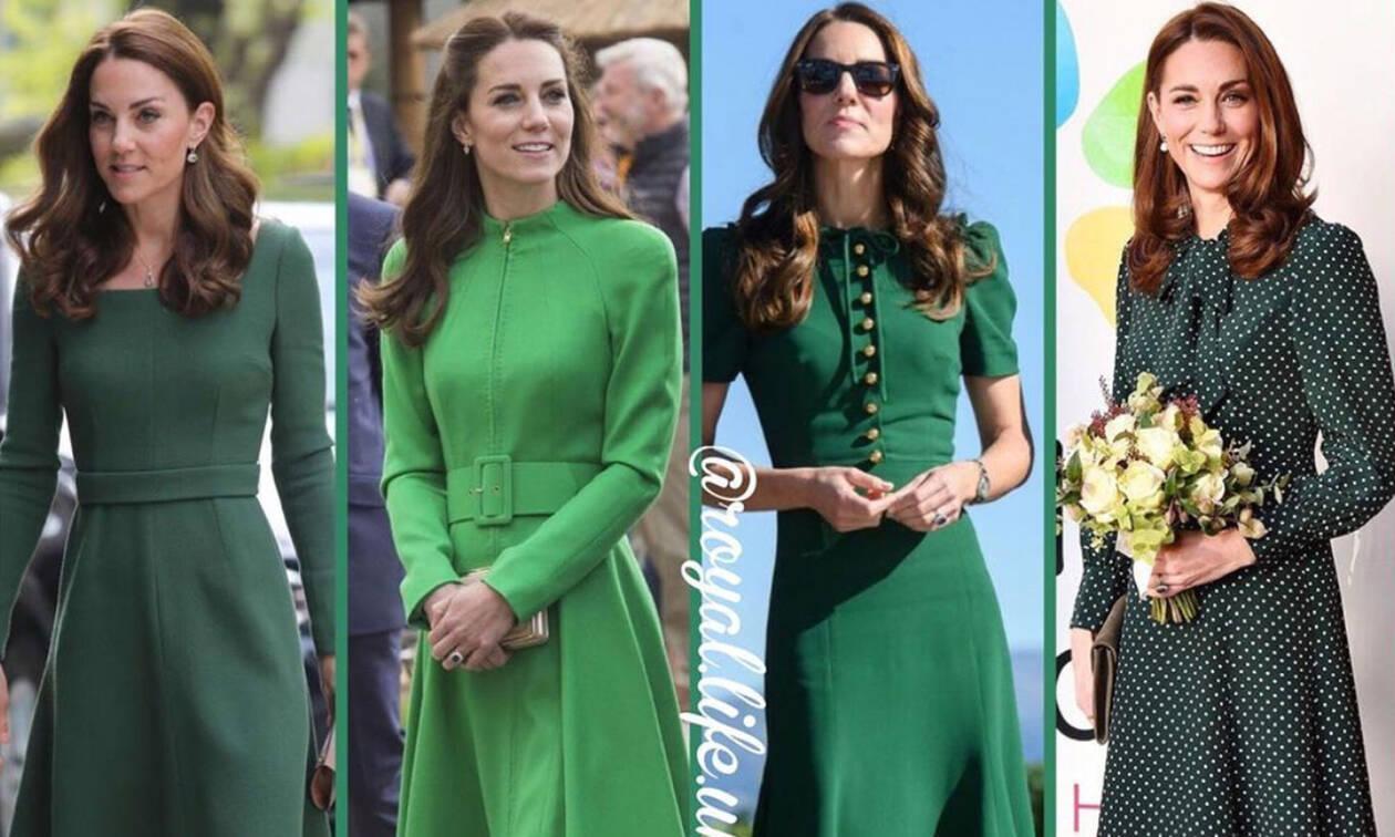 f3ac360e1bbf Kate Middleton: Θυμόμαστε τις πιο όμορφες εμφανίσεις της με πράσινο φόρεμα  (pics + vid