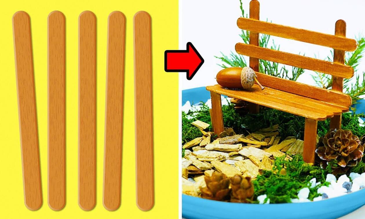 Κατασκευές με ξυλάκια ( vid)