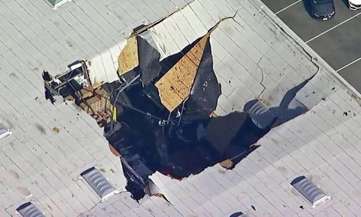 Καλιφόρνια: Σοκαριστικό βίντεο δείχνει την πτώση του F-16 από αυτοκινητόδρομο