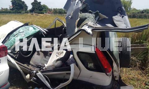 Τραγωδία στην Ηλεία: Νεκρά δύο αδέρφια σε φρικτό τροχαίο (pics)