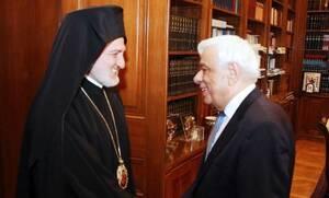Συνάντηση Παυλόπουλου με τον αρχιεπίσκοπο Αμερικής Ελπιδοφόρο