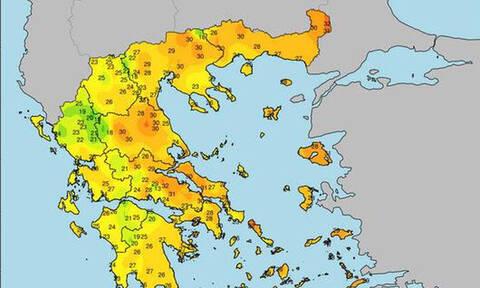 Καιρός: Σε ποιες πόλεις άγγιξε τους 33 βαθμούς ο υδράργυρος