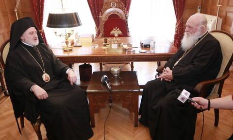 Τον Αρχιεπίσκοπο Ιερώνυμο επισκέφθηκε ο νέος Αρχιεπίσκοπος Αμερικής Ελπιδοφόρος (pics)