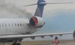 Ηράκλειο: Συναγερμός στο «Ν. Καζαντζάκης» - Φωτιά σε κινητήρα αεροπλάνου