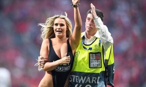 Τελικός Champions League: Αυτή είναι η ξανθιά «εισβολέας» που... χάζεψε το γήπεδο (photos+video)