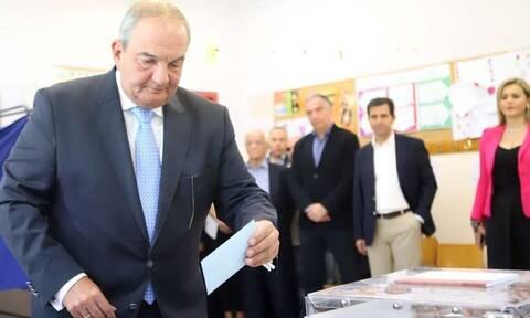 Περιφερειακές Εκλογές 2019: Ψήφισε για το Β' γύρο των δημοτικών εκλογών ο Κώστας Καραμανλής