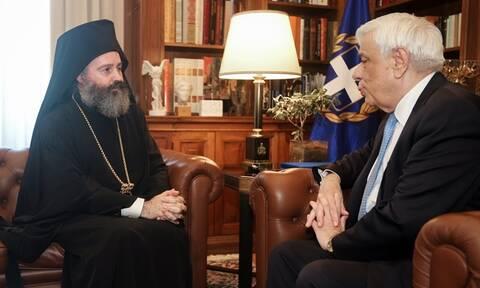 Συνάντηση του Προκόπη Παυλόπουλου με τον Αρχιεπίσκοπο Αυστραλίας κ. Μακάριο