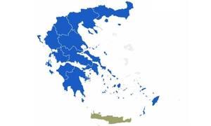 Αποτελέσματα εκλογών 2019: Όλη η Ελλάδα βάφτηκε μπλε – Στη ΝΔ 12 από τις 13 περιφέρειες