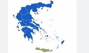 Αποτελέσματα εκλογών 2019: «Γαλάζια» όλη η χώρα – Κυριαρχία της ΝΔ σε 12 από τις 13 περιφέρειες
