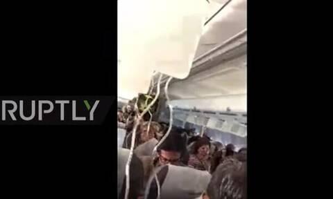 «Θρίλερ» στον αέρα: Αναγκαστική προσγείωση αεροσκάφους στη Μόσχα (vid)