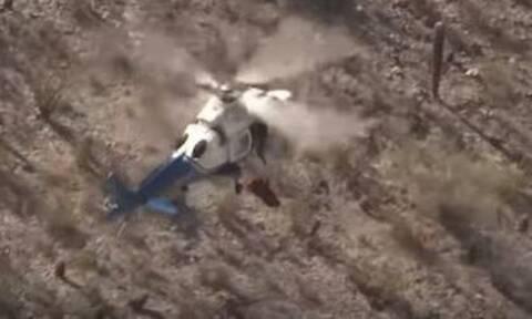 Τρομακτική διάσωση με ελικόπτερο: Το σύρμα έσπασε και το φορείο άρχισε να στριφογυρίζει σαν τρελό!