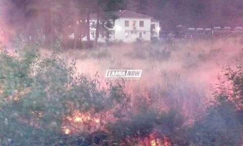Συναγερμός για πυρκαγιά κοντά στο hot spot Θερμοπυλών