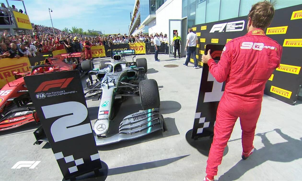 Χαμός στο GP του Καναδά: Πρώτος ο Φέτελ αλλά νικητής ο… Χάμιλτον - Στα «κάγκελα» η Ferrari (vids)
