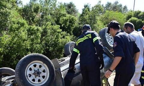 Αργολίδα: Ανατροπή αυτοκινήτου με δυο τραυματίες