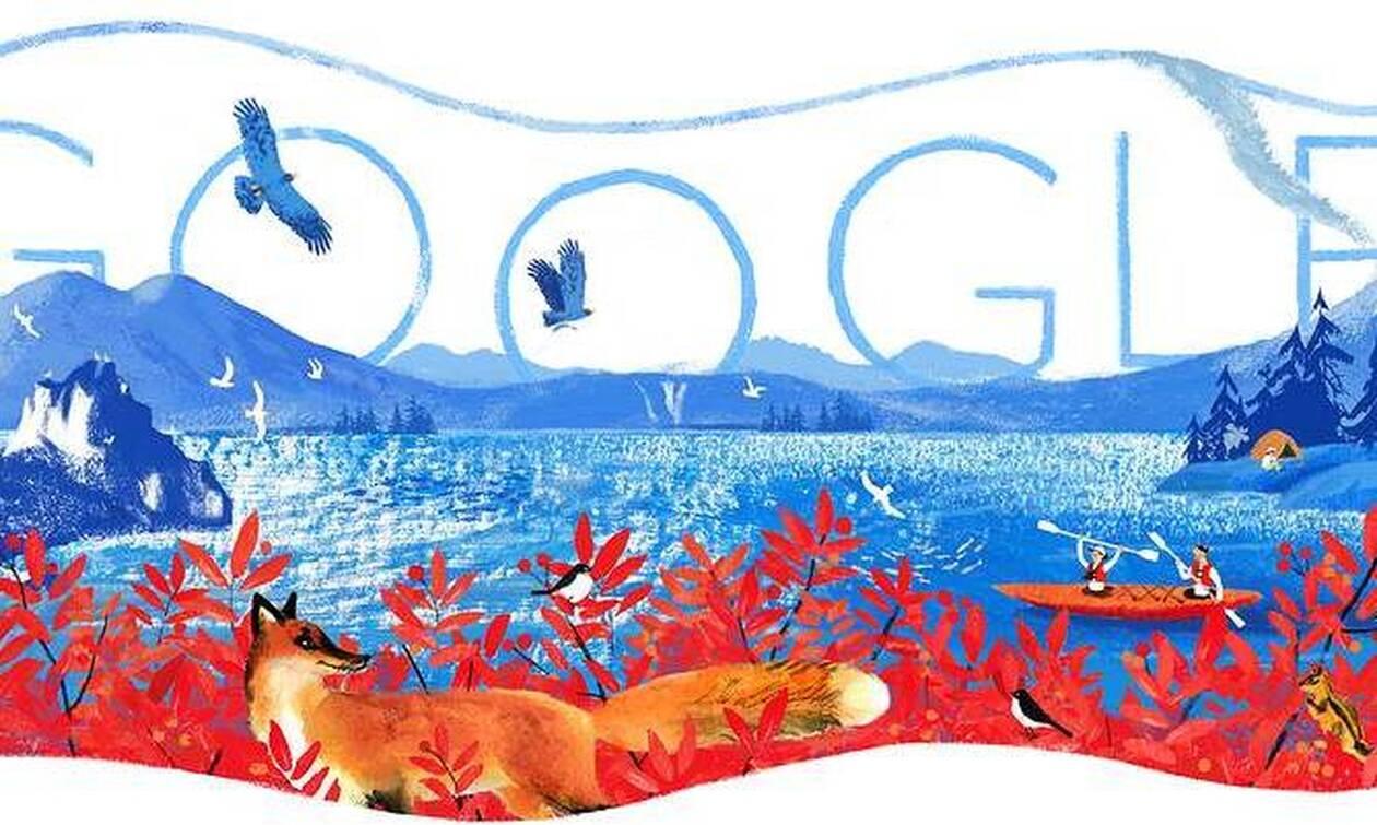 Google выпустил дудл ко Дню России