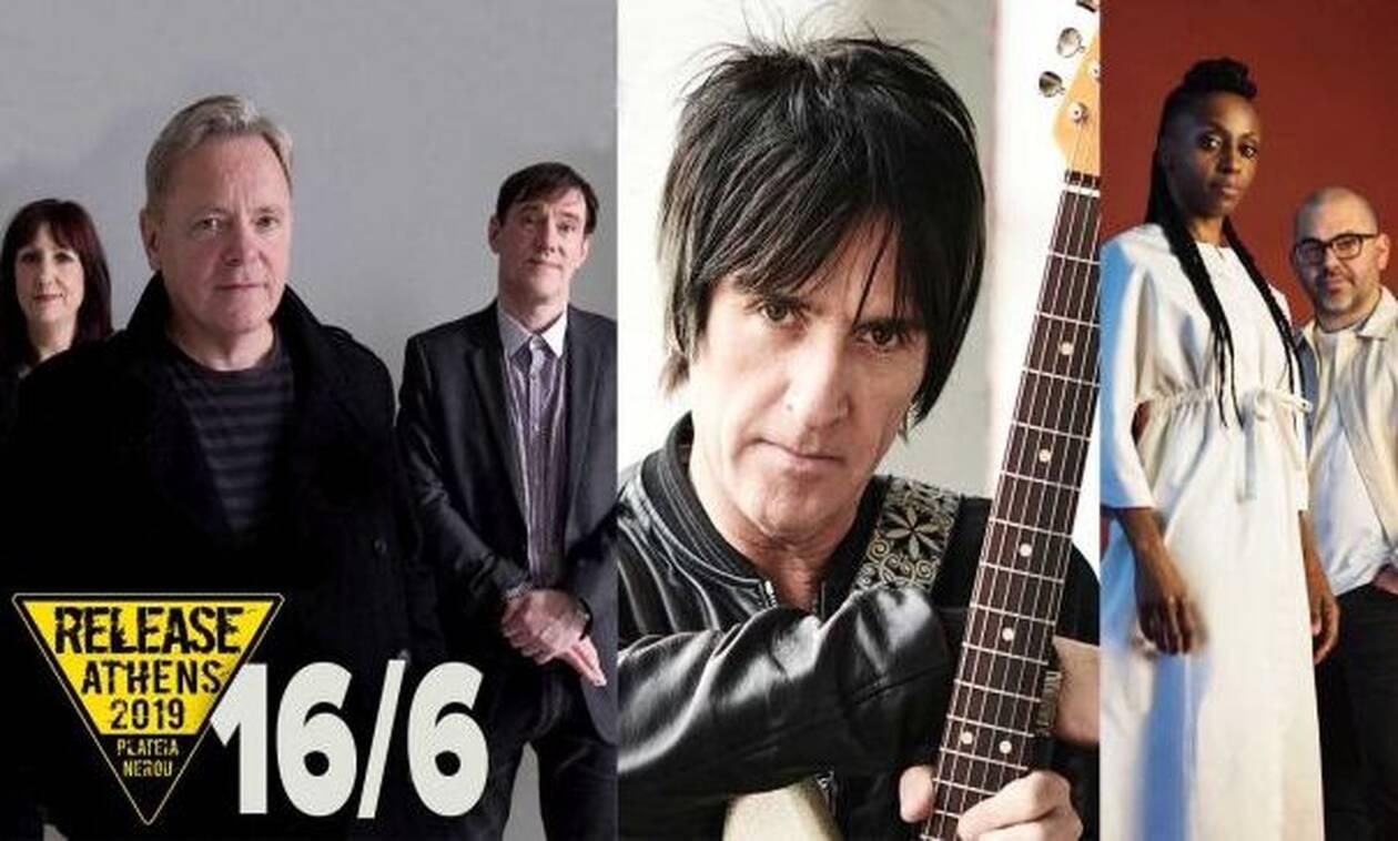 Κυριακή 16/6 στο Release Athens: Morcheeba και Fontaines D.C. μαζί με New Order και Johnny Marr!
