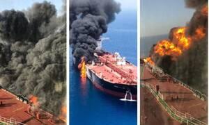 Παγκόσμιος τρόμος! «Κόλαση» στον Κόλπο του Ομάν: Tορπίλες και νάρκες χτύπησαν τα δεξαμενόπλοια