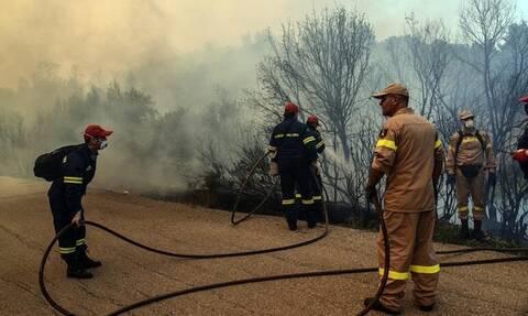 Φωτιά ΤΩΡΑ: Μεγάλες πυρκαγιές σε Εύβοια και Κορινθία