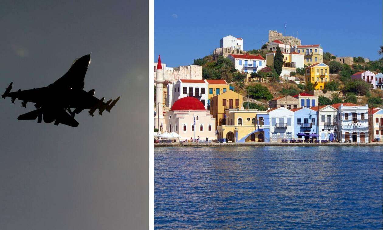 Αγωνία στο Καστελλόριζο: Οι Τούρκοι «πολιορκούν» το νησί - Νέες υπερπτήσεις μαχητικών