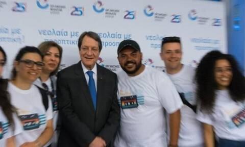 Анастасиадис: «Двери президентского дворца всегда открыты для молодежи»