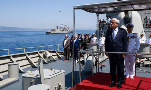 Μήνυμα Παυλόπουλου στην Τουρκία: «Καμία υπαναχώρηση στην υπεράσπιση των θέσεων μας» (pics&vids)