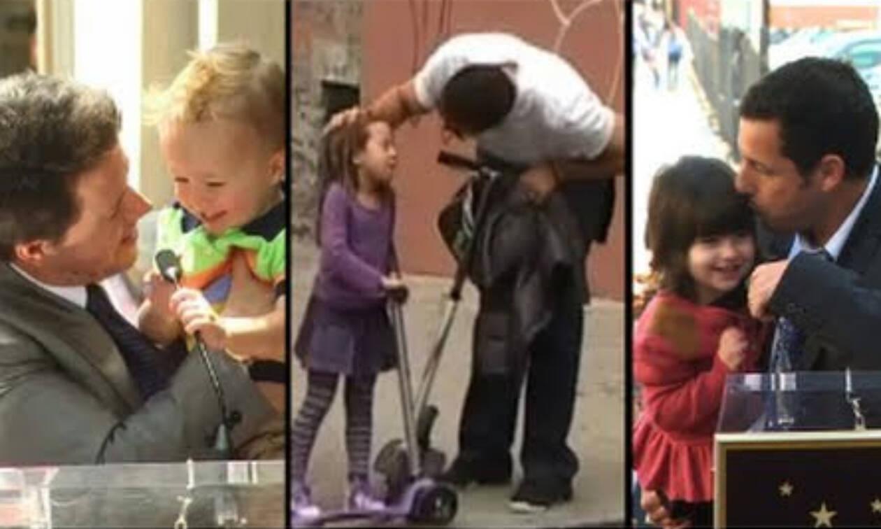 Δείτε ποιοι διάσημοι μπαμπάδες είναι πολύ τρυφεροί με τα παιδιά τους (vid)