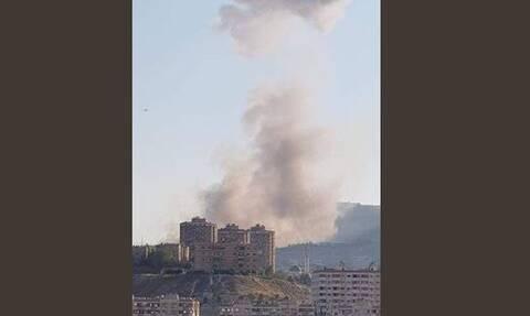Συρία: Ισχυρή έκρηξη συγκλόνισε τη Δαμασκό (pic)